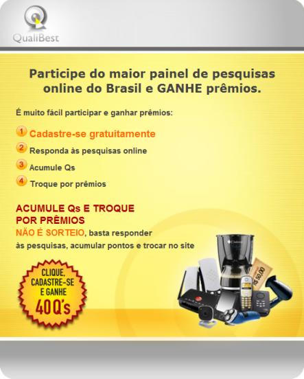 Participe do maior painel de pesquisas online do Brasil e GANHE prêmios.